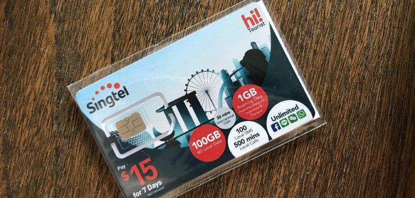 Singtel hi!Tourist sim card